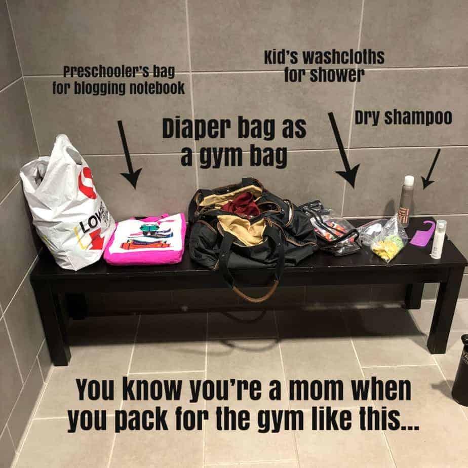 A Mom's Gym Bag