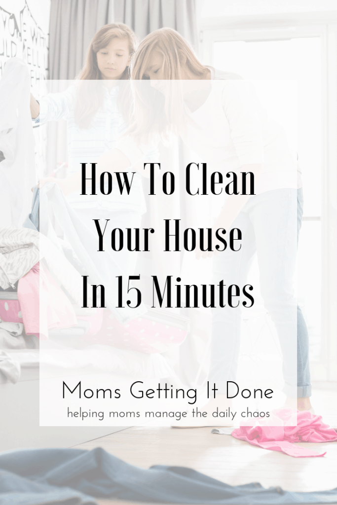 How to clean your house in 15 minutes