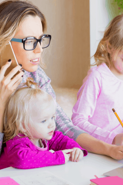 Stay At Home Mom working with kids